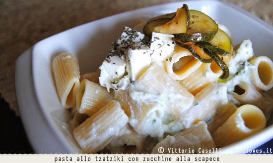 Pasta allo tzatziki con zucchine alla scapece 3
