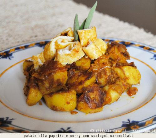 Patate alla paprika e curry con scalogni caramellati 2
