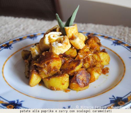 Patate alla paprika e curry con scalogni caramellati 3