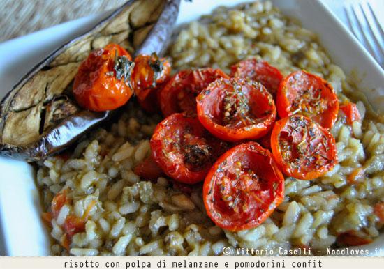 Risotto con polpa di melanzane e pomodorini confit 2