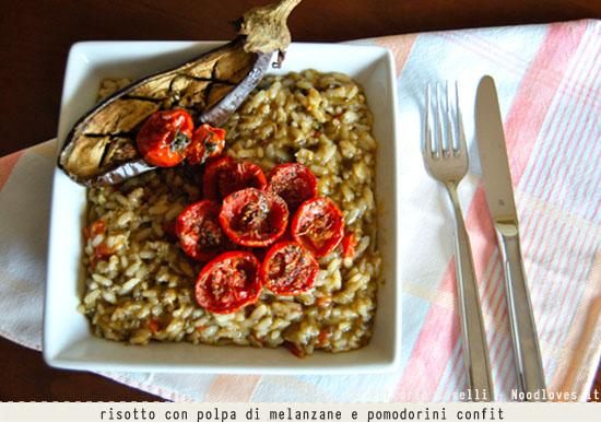 Risotto con polpa di melanzane e pomodorini confit 3