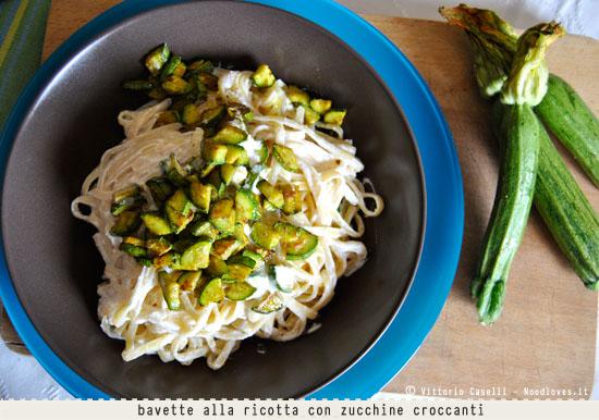 Bavette alla ricotta con zucchine croccanti curry zenzero 2