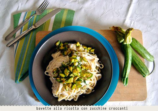 Bavette alla ricotta con zucchine croccanti curry zenzero 3