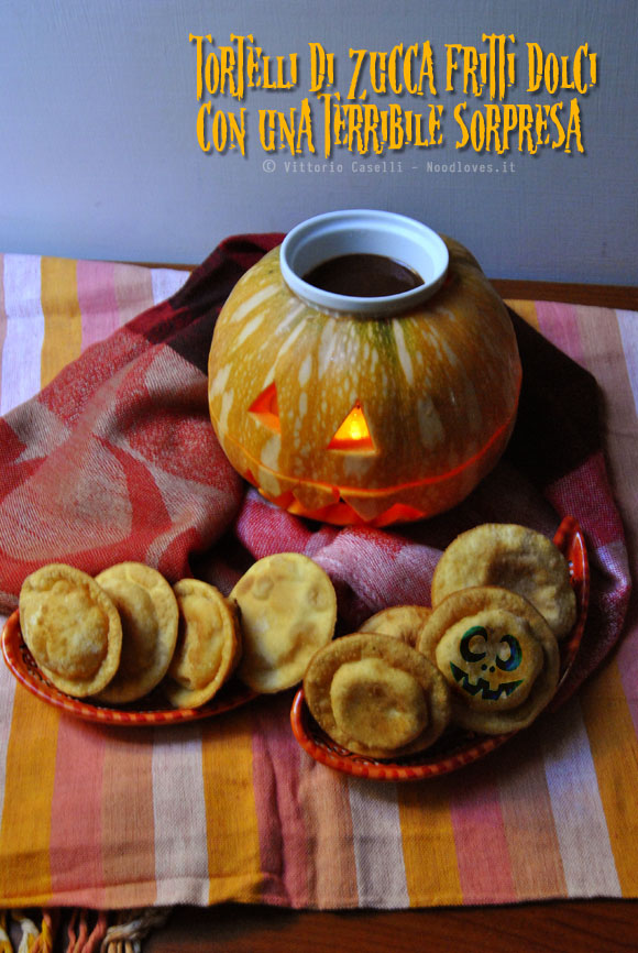 Tortelli di zucca fritti dolci Halloween 1