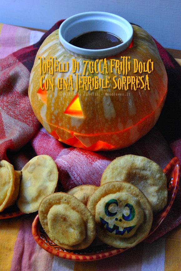 Tortelli di zucca fritti dolci Halloween 2