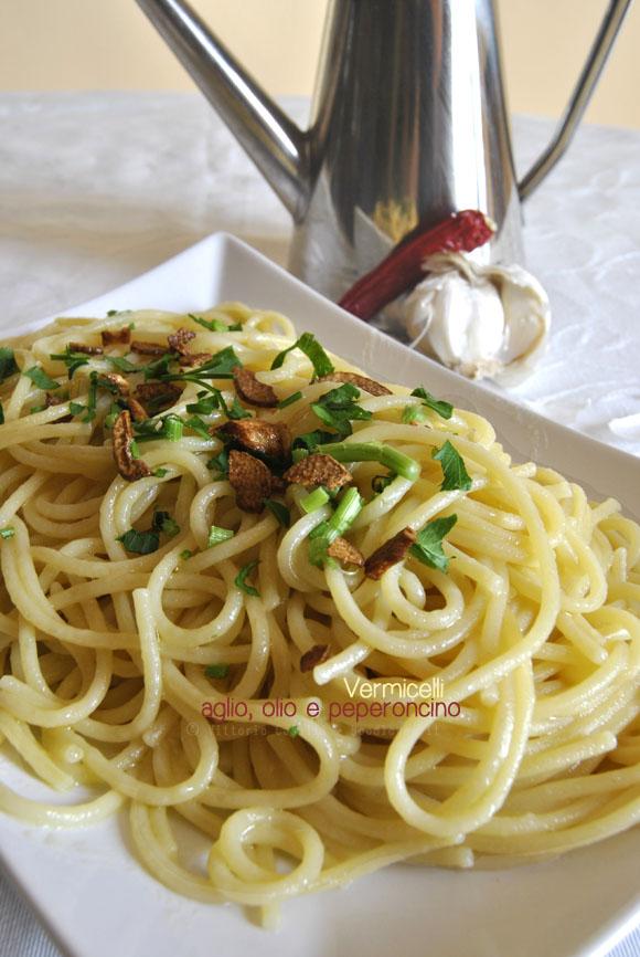 Vermicelli aglio olio e peperoncino 2