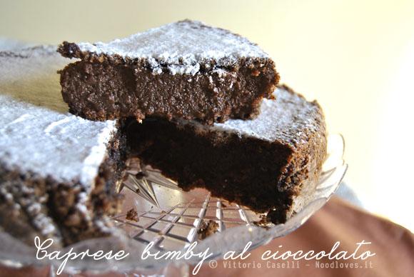 Caprese bimby al cioccolato 2