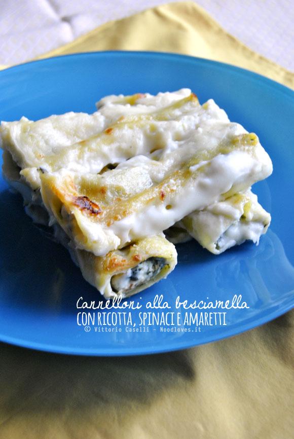 Cannelloni con ricotta, spinaci amaretti e besciamella