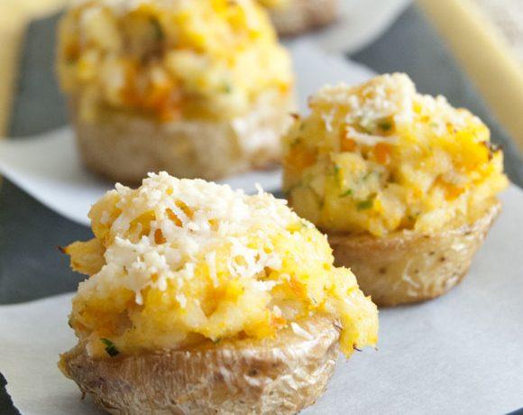 Patate novelle con mousse di merluzzo