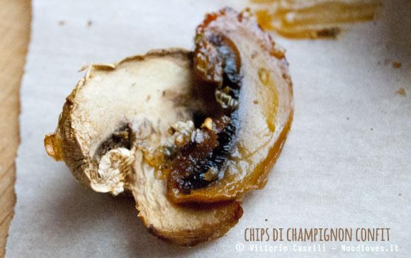 Chips di champignon confit