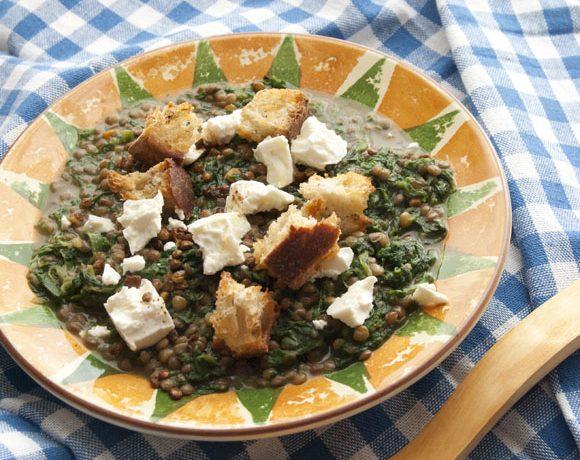 Minestra di lenticchie e spinaci
