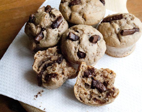 Muffins di panettone agli agrumi e cioccolato