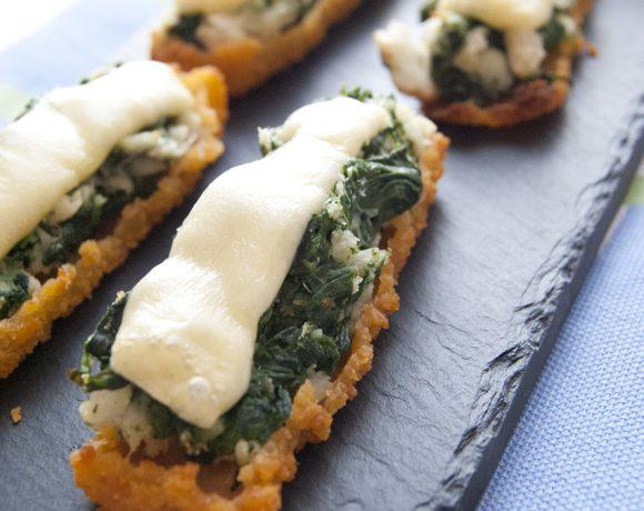 Barchette croccanti di merluzzo e spinaci
