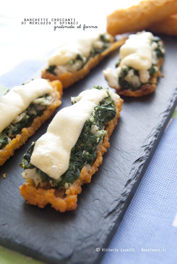 Barchette croccanti di merluzzo e spinaci, troppo simpatiche!