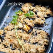 Cozze gratinate al forno con pane aromatico e tanti sapori!