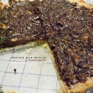 Crostata alla nutella e mascarpone