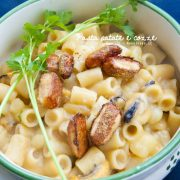 Pasta patate e cozze con crosta di parmigiano gratinata