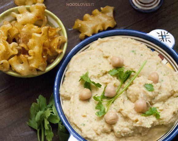 Hummus di ceci con pasta
