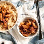 Pollo alle mandorle con Noodles