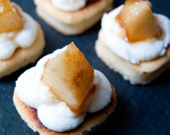 Ricotta e pera fingerfood dolce 1-