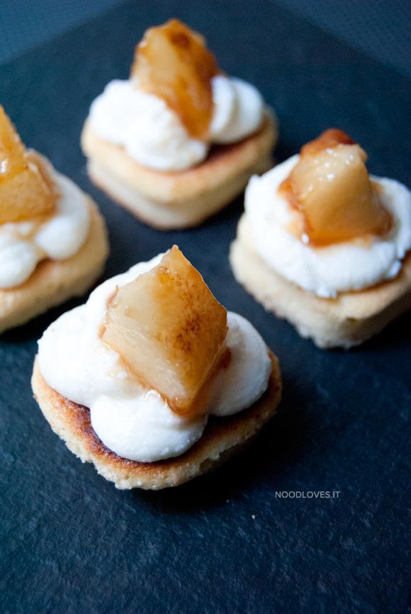 Ricotta e pera fingerfood dolce 1-