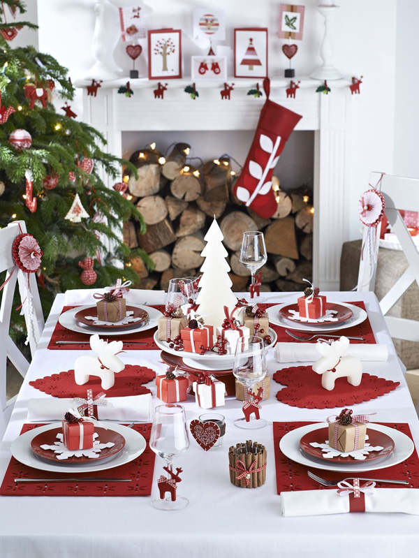 La tavola di natale le decorazioni e il bon ton noodloves - Belle table de noel ...