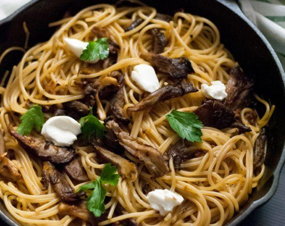 Spaghetti ai funghi trifolati