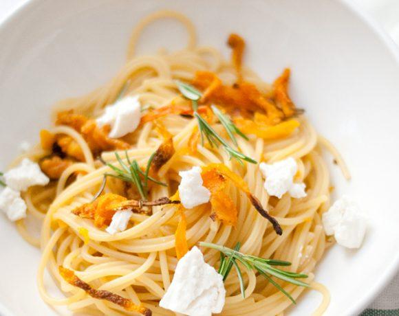 Spaghetti alla zucca piastrata