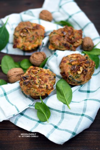 Muffins senza glutine vegetariani