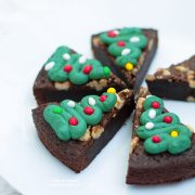 Alberi di Natale brownies decorati