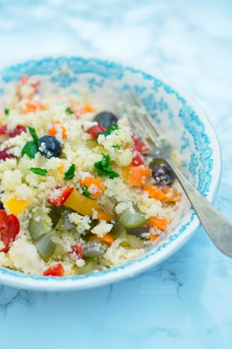 Insalata di rinforzo con cous cous di cavolfiore