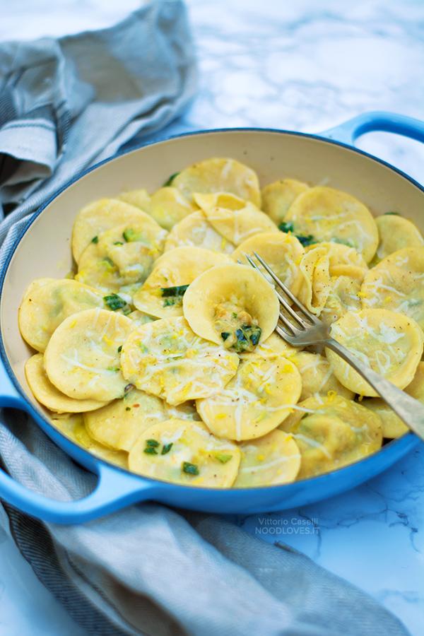 Ravioli alla Nerano, con zucchine e provolone