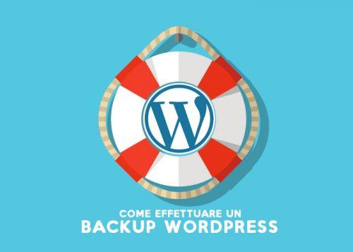 Backup WordPress completo: come fare