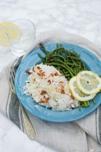 Basmati con asparagi selvatici al limone