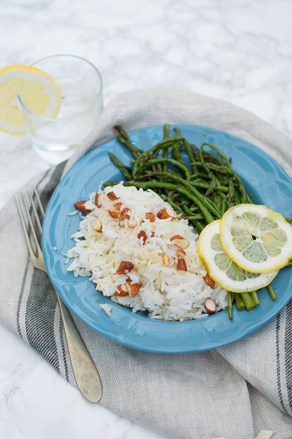 Basmati con asparagi selvatici al limone