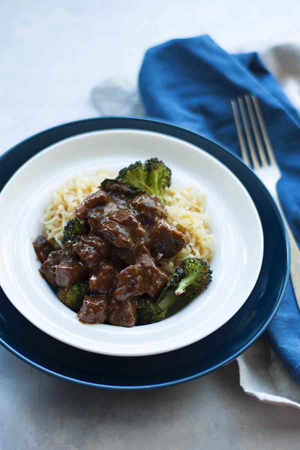 Spezzatino veloce di manzo con broccoli