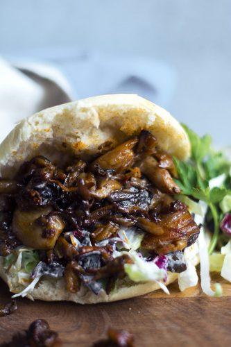 Vegan pulled pork (funghi alla salsa barbecue)