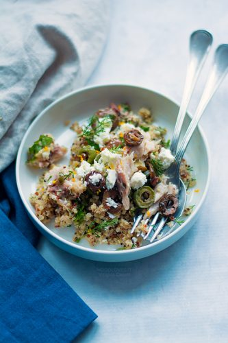 Quinoa con pesce alla mediterranea